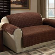 Quilted Faux-Suede Furniture Saver