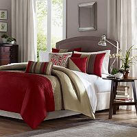 Madison Park Eastridge Duvet Cover & Window Curtain Collection