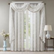 Madison Park Iris Diamond Sheer Window Treatments
