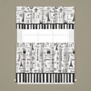 Saturday Knight, Ltd. Le Paris Tier Kitchen Window Curtains