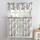 Top of the Window Wine Down Tier Kitchen Window Curtains