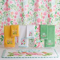 Celebrate Spring Together Watercolor Floral Shower Curtain Collection
