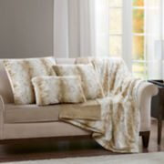 Madison Park Marselle Faux Fur Throw Pillow Collection