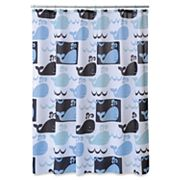 Allure Home Creations Whale Watch Shower Curtain Collection
