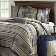 On Your Own Stipple Stripe Comforter Set
