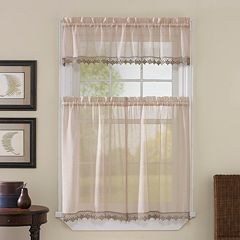 CHF Leanne Tier Voile Tier Kitchen Window Curtains