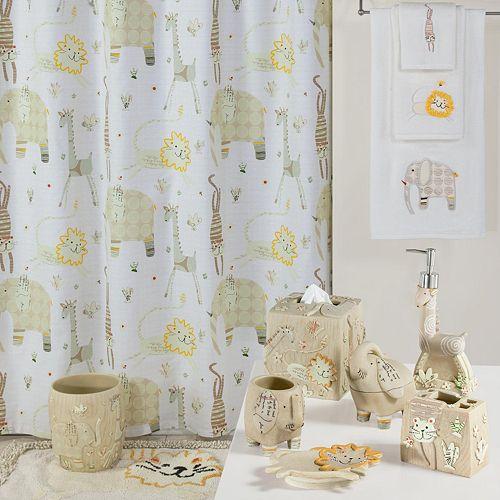 creative bath animal crackers shower curtain collection - Bathroom Accessories Kohl S