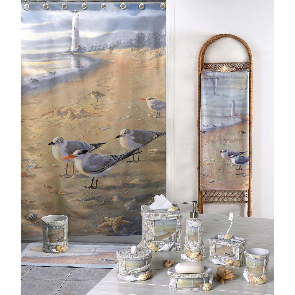 The Beach Shower Curtain Collection, Lighthouse Bathroom Sets
