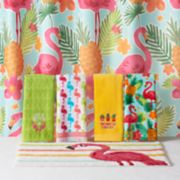 Celebrate Summer Together Flamingo Shower Curtain Collection