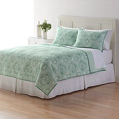 Home Classics® Sarah Watercolor Damask Quilt Collection