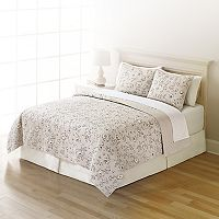 Home Classics® Sarah Pinstripe Floral Quilt Collection