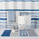 Saturday Knight, Ltd. Cubes Stripe Shower Curtain Collection