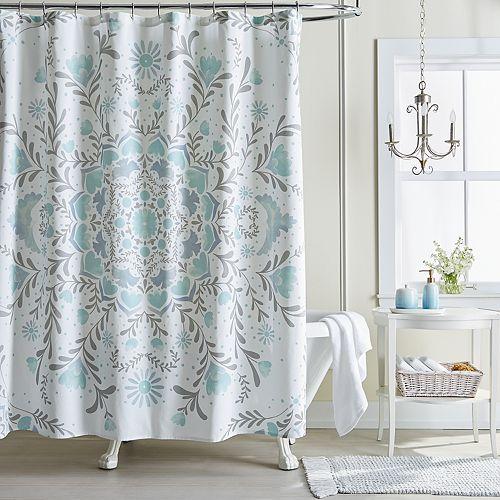 LC Lauren Conrad Carina Medallion Shower Curtain Collection