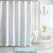 LC Lauren Conrad Woven Stripe Shower Curtain Collection