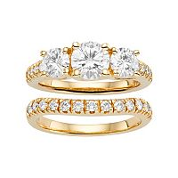 Forever Brilliant Lab-Created Moissanite 14k Gold Coordinating Wedding Jewelry