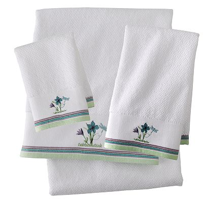 Dragonfly Flower Bath Towels