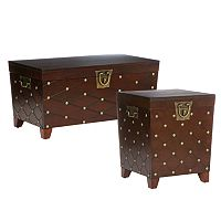 Nailhead Trunk Table Collection