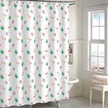 Destinations Palm Leaf Flamingo Shower Curtain Collection