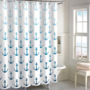 Destinations Ombre Anchor Shower Curtain Collection