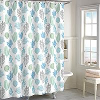 Destinations Coral Botanical Shower Curtain Collection