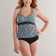 Candie's Floral Swim Separates - Juniors' Plus