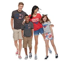 DC Comics Patriotic Family Graphic Tee Collection