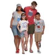 Peanuts Snoopy Patriotic Family Graphic Tee Collection