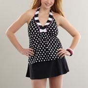 SO Polka-Dot Swim Separates - Juniors' Plus