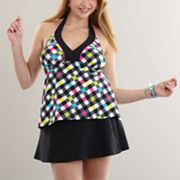 SO Checkered Swim Separates - Juniors' Plus