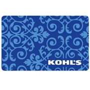 Blue Flourish Floral Gift Card