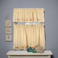 Seabreeze Swag Tier Kitchen Window Curtains