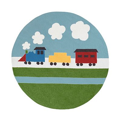 Surya Playground Train Rug
