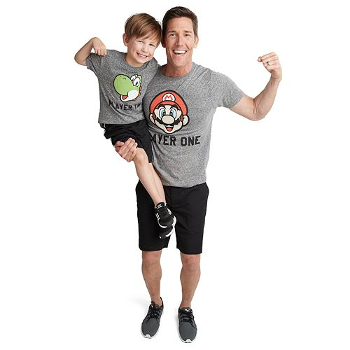 999e07b6 Dad & Me Player One & Two Graphic Tees