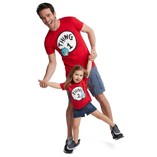 Dad Me Dr Seuss Thing 1 Thing 2 Graphic Tees
