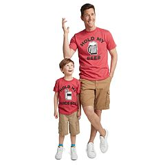 Dad & Me Hold My Drink Graphic Tees