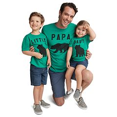 Dad & Me Bear Family Graphic Tees