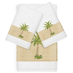 Linum Home Textiles Colton Embellished Bath Towel Collection