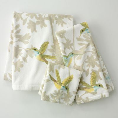 Garden Pond Floral Bath Towels