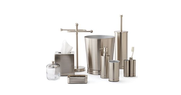Home Classics Brushed Nickel Bathroom Accessories Collection