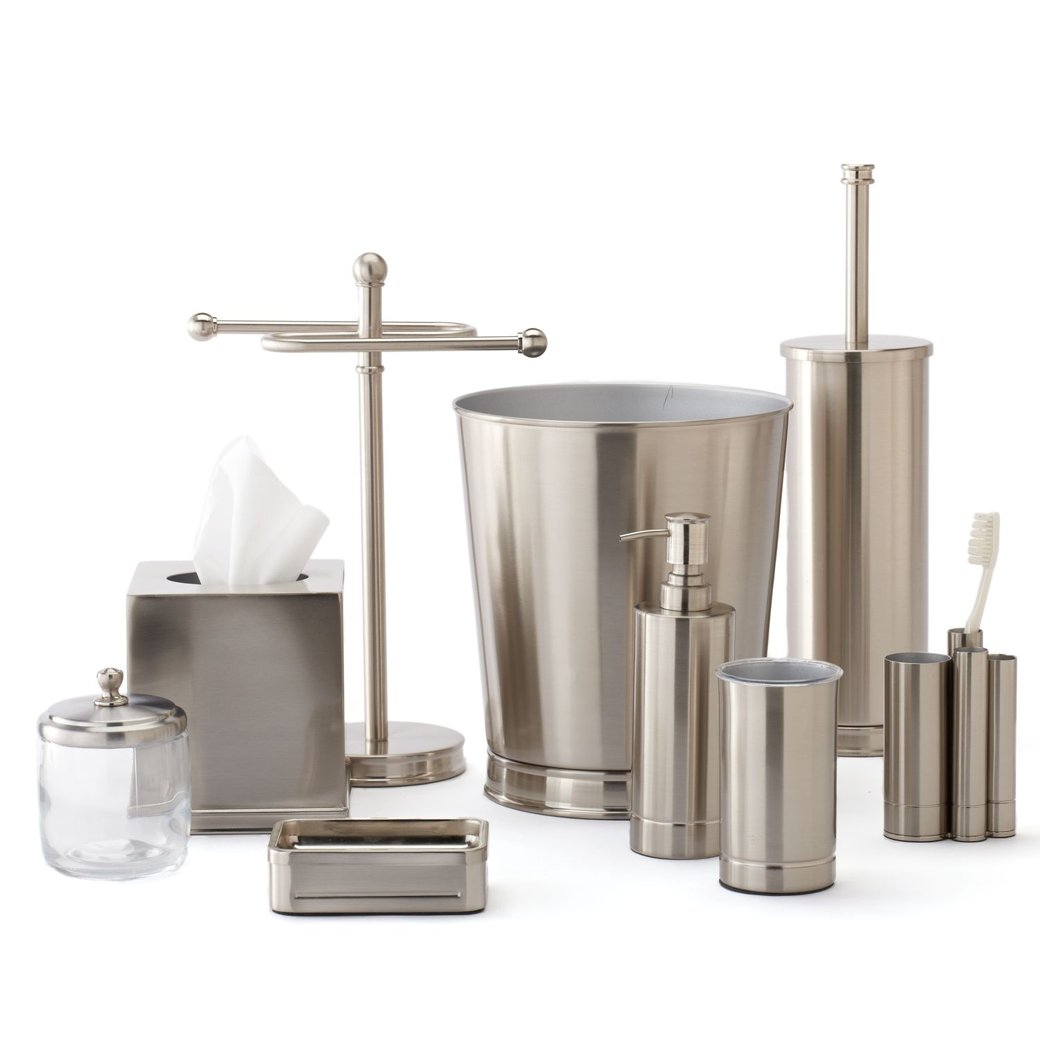 Delightful Home Classics® Brushed Nickel Bathroom Accessories Collection
