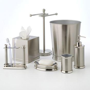 Home classics brushed nickel fingertip towel stand Bathroom towel stands brushed nickel