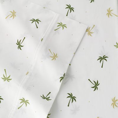The Big One Palm Tree Percale Sheet Set