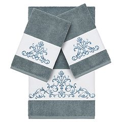 Linum Home Textiles 3-piece Scarlet Embellished Bath Towel Collection