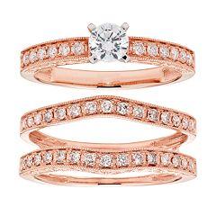 14k Gold IGL Certified 1/2 Carat T.W. Diamond Engagement Rings