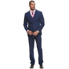 Men's Savile Row Slim-Fit Blue Flat-Front Suit Separates