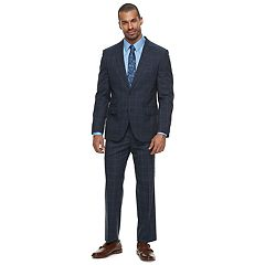 Men's Savile Row Modern-Fit Windowpane Blue Suit Separates