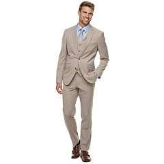Men's Savile Row Modern-Fit Tan Striped Suit Separates
