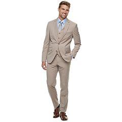 Men's Savile Row Modern-Fit Tan Striped Suit Separates