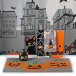 Celebrate Halloween Together Catitude Shower Curtain Collection