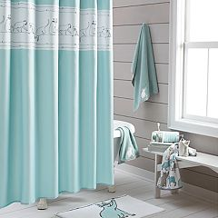 One Home Embroidered Kitty Cat Shower Curtain Collection
